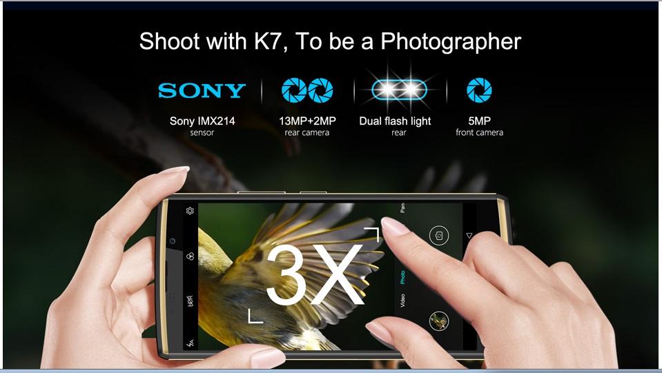 Oukitel K7 cámara