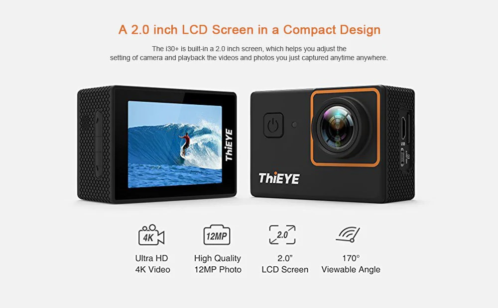 ThiEYE i30+ 4K Action Cam