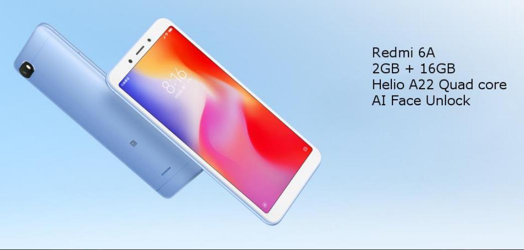 Xiaomi Redmi 6A Diseño