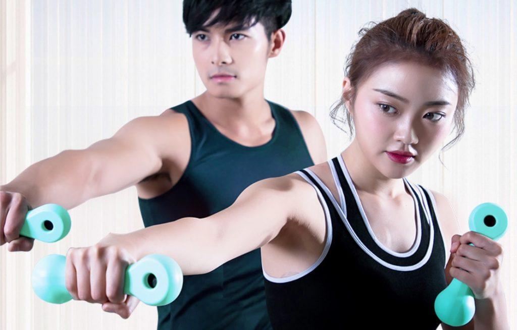 Ejercicios divertidos con las nuevas pesas inteligentes Xiaomi Beat Smart Sports Dumbbells