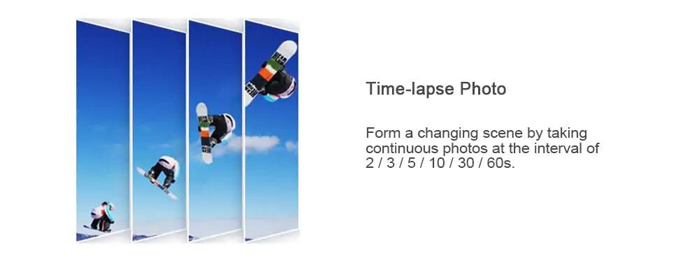 ThiEYE i30+ 4K Action Cam Lapso de Tiempo