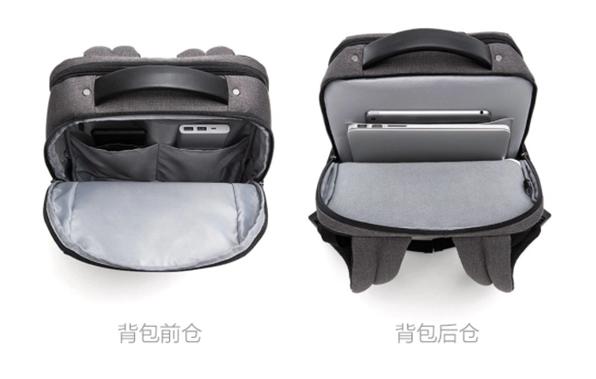 Interior de la nueva mochila para computadoras de Xiaomi