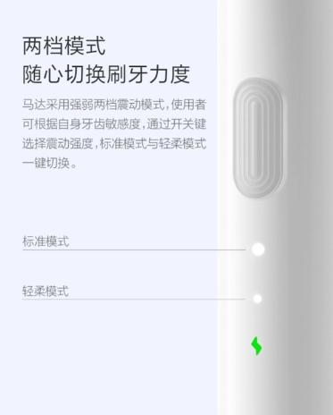 Especificaciones internas del cepillo de dientes de Xiaomi