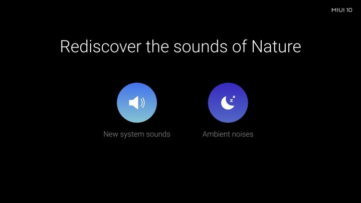Características de MIUI 10: sonidos perfectos para relajarse después de un largo día