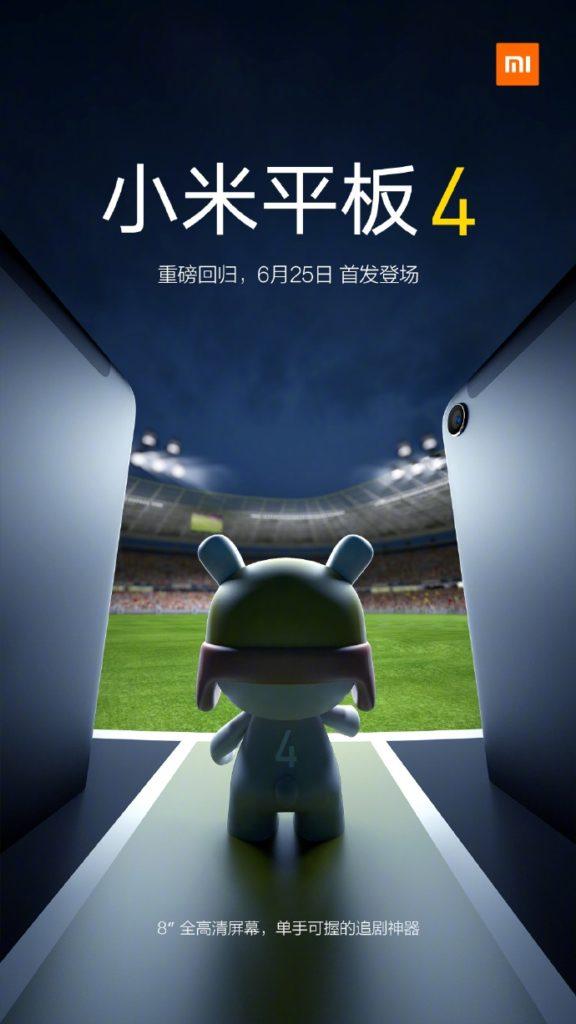 La tan esperada Xiaomi Mi Pad 4 será lanzada en China este próximo 25 de junio