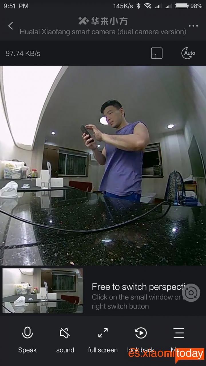 Xiaomi Xiaofang Panoramic 360° Funciones