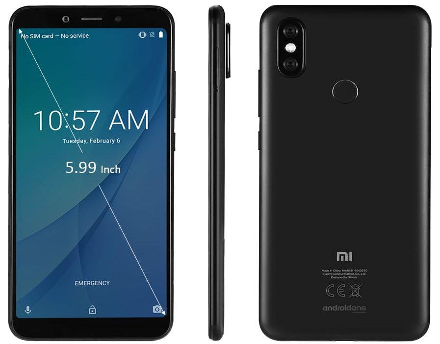 Xiaomi Mi A2 - Diseño