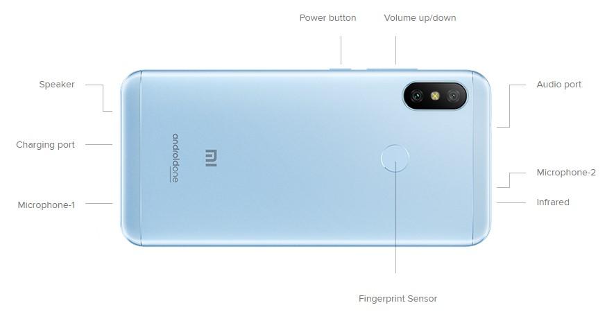 Xiaomi Mi A2 Lite - Diseño