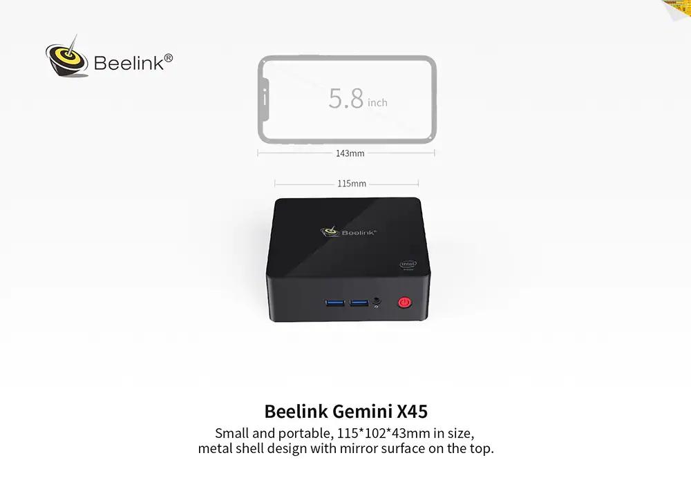 Beelink Gemini X45 diseño