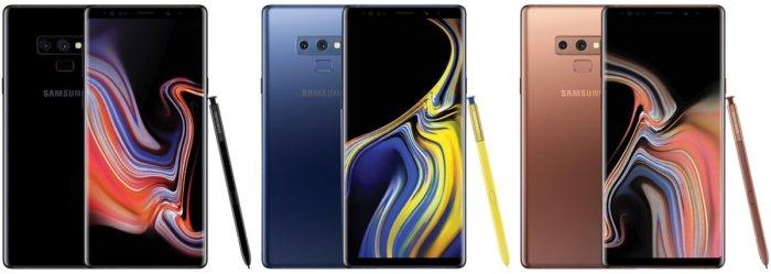 Colores del Galaxy Note 9