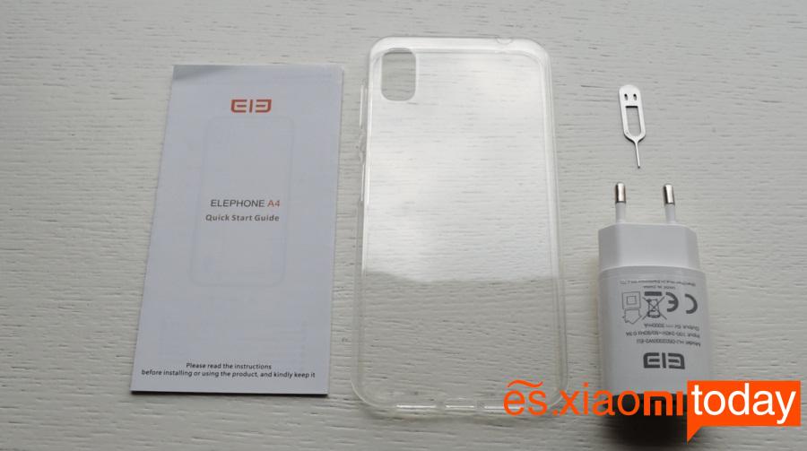 Elephone A4 contenido de la caja