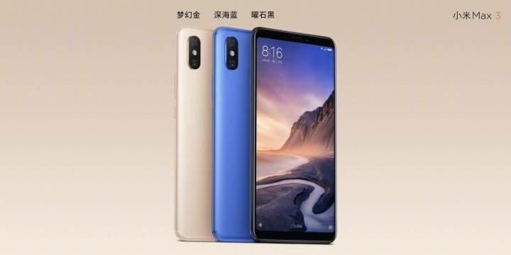 Xiaomi Mi Max 3: Colores