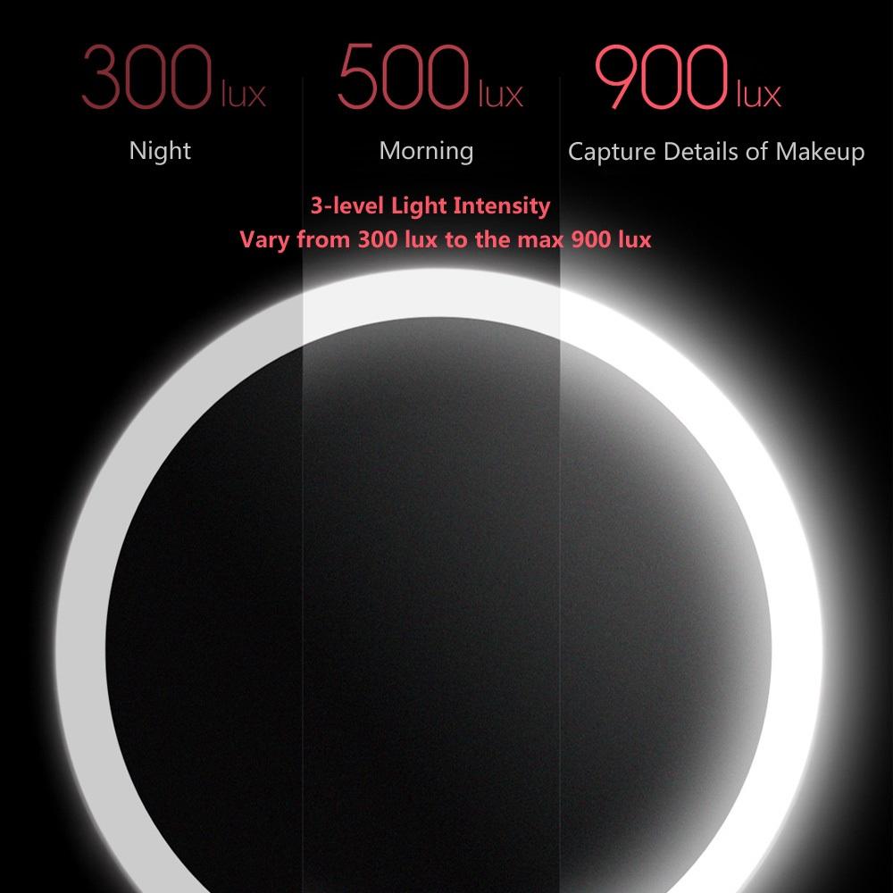 Xiaomi AMIRO HD Daylight Mirror Intensidad de luz