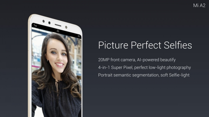 Xiaomi Mi A2 - cámara frontal