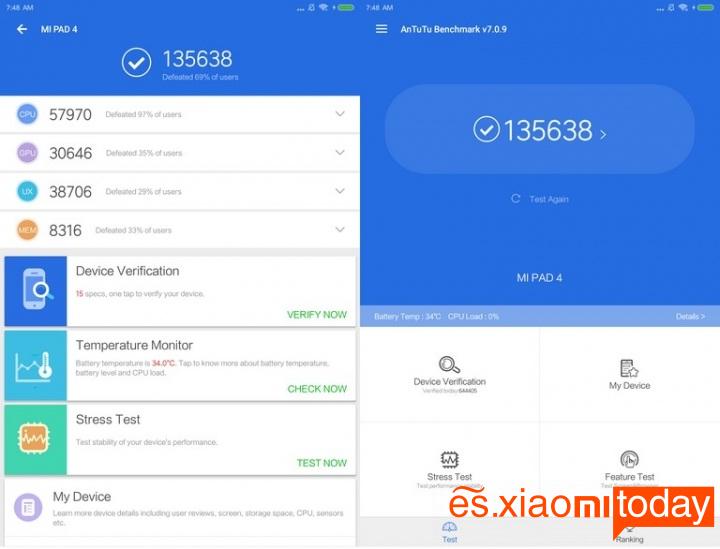 Xiaomi Mi Pad 4 antutu