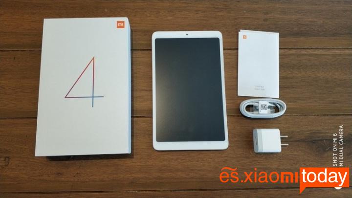 Xiaomi Mi Pad 4 caja contenido