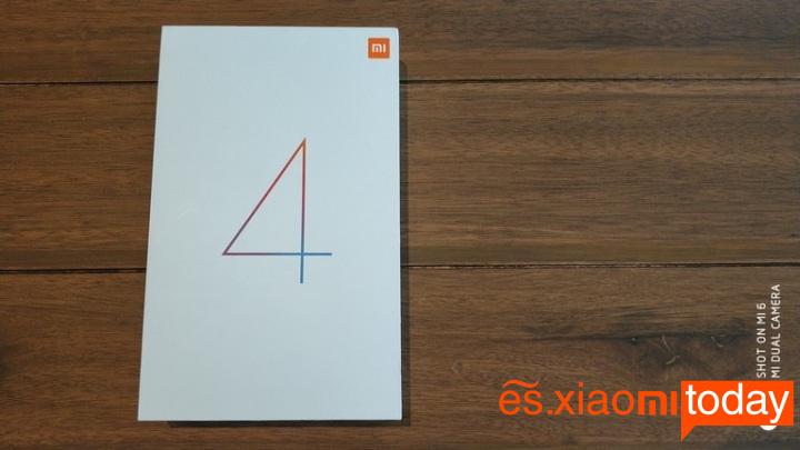 Xiaomi Mi Pad 4 caja parte frontal