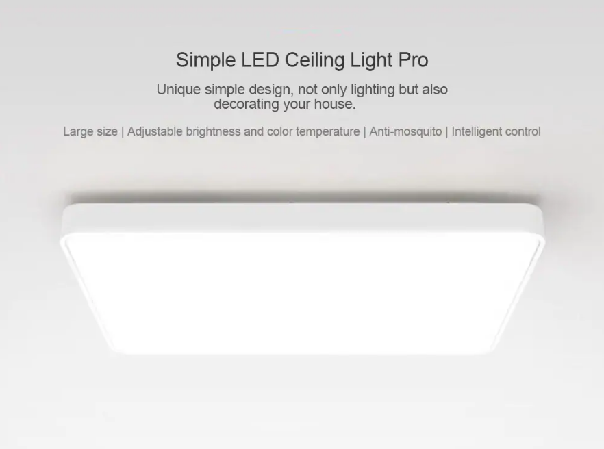 Xiaomi Yeelight Simple LED Ceiling Light Pro Características