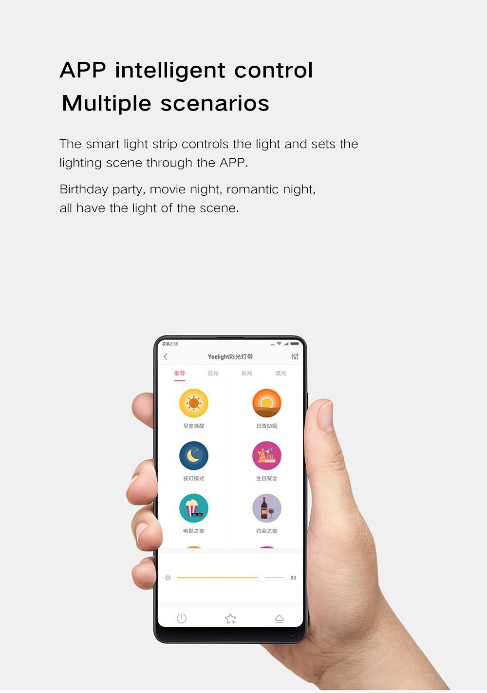 Xiaomi Yeelight Striplight Plus sincronización