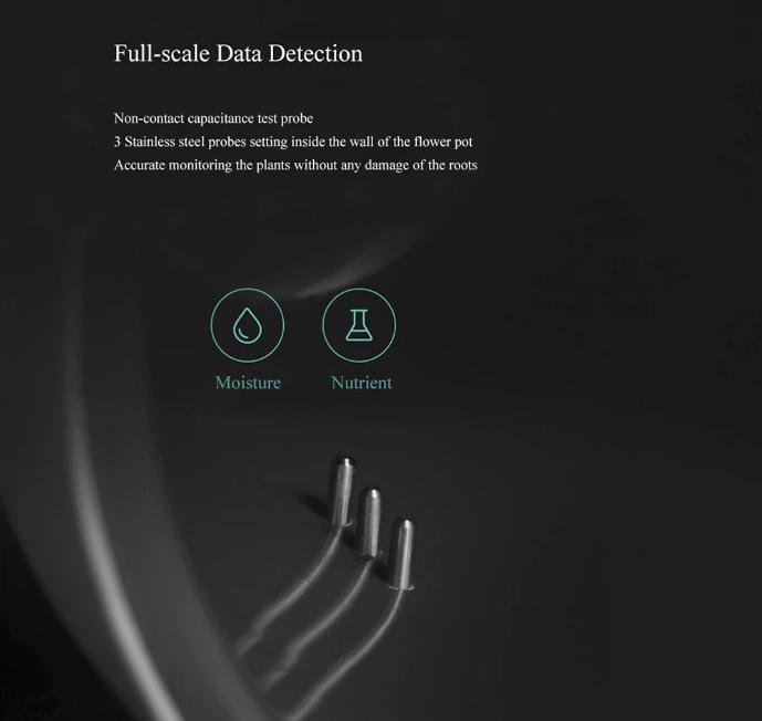 Xiaomi Youpin Flower Pot Monitor Funciones