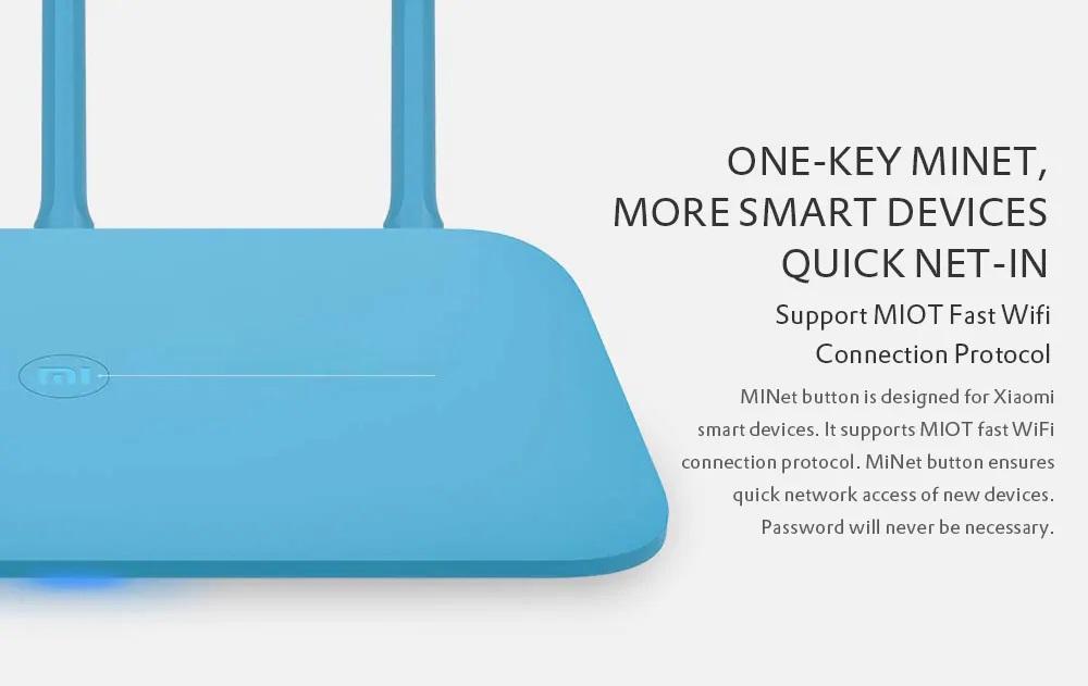 Xiaomi Mi Router 4Q Botón MiNET.