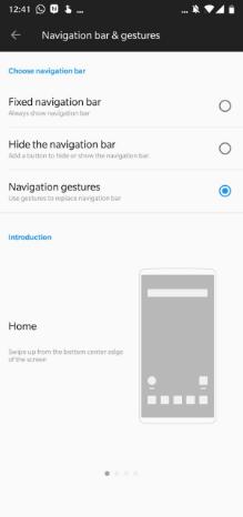 Gestos en el OnePlus 6