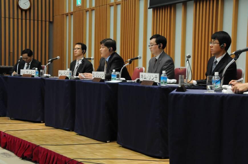 Corea - reunión universitaria