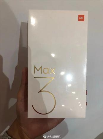 Retail box of the Xiaomi Mi Max 3