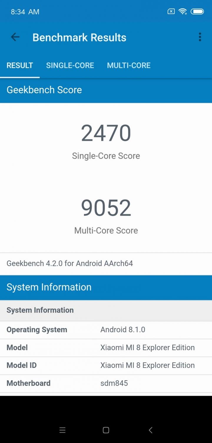 Xiaomi Mi 8 Explorer Edition Análisis - Hardware y rendimiento