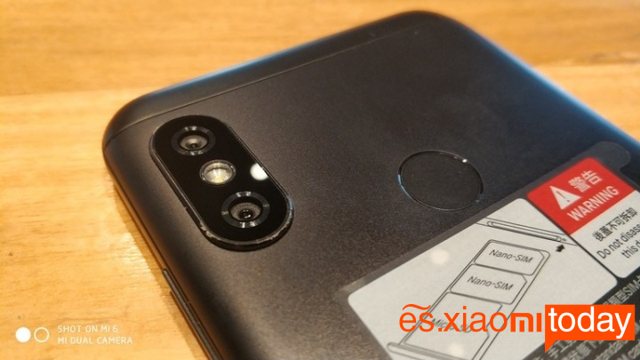 Xiaomi Mi A2 Lite cámaras