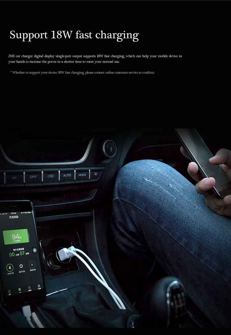 Cargador para coche Xiaomi ZMI Voltajes