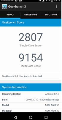 AGM X3 Geekbench