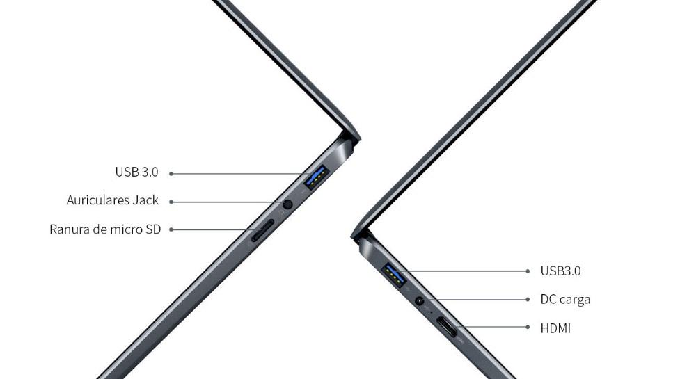 Chuwi lapbook SE - Interfaces