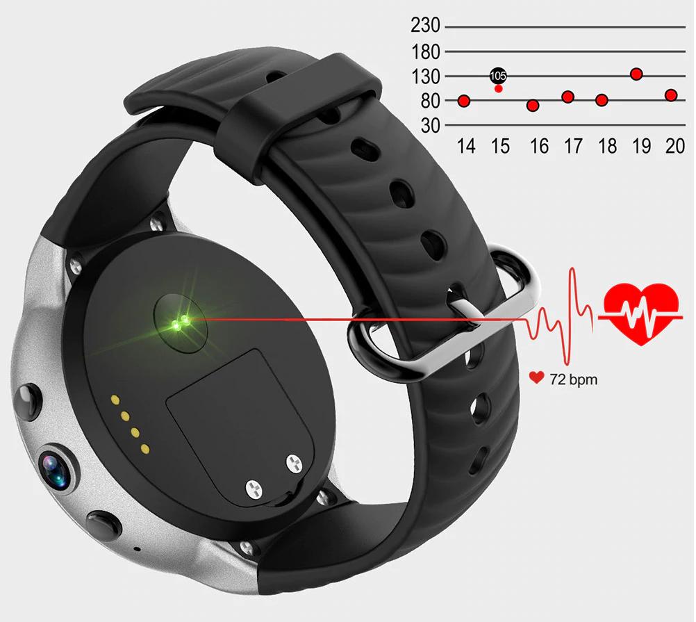 IQI I8 4G Smartwatch Phone: Medidor de frecuencia cardiaca