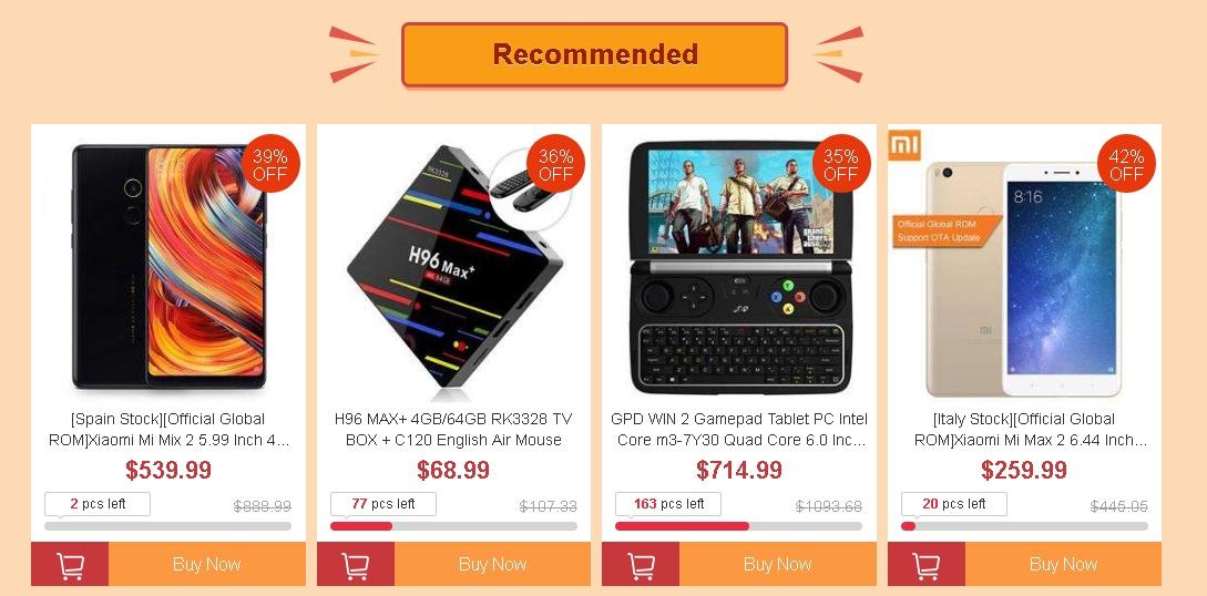 Promoción y ofertas de otoño de Geekbuying