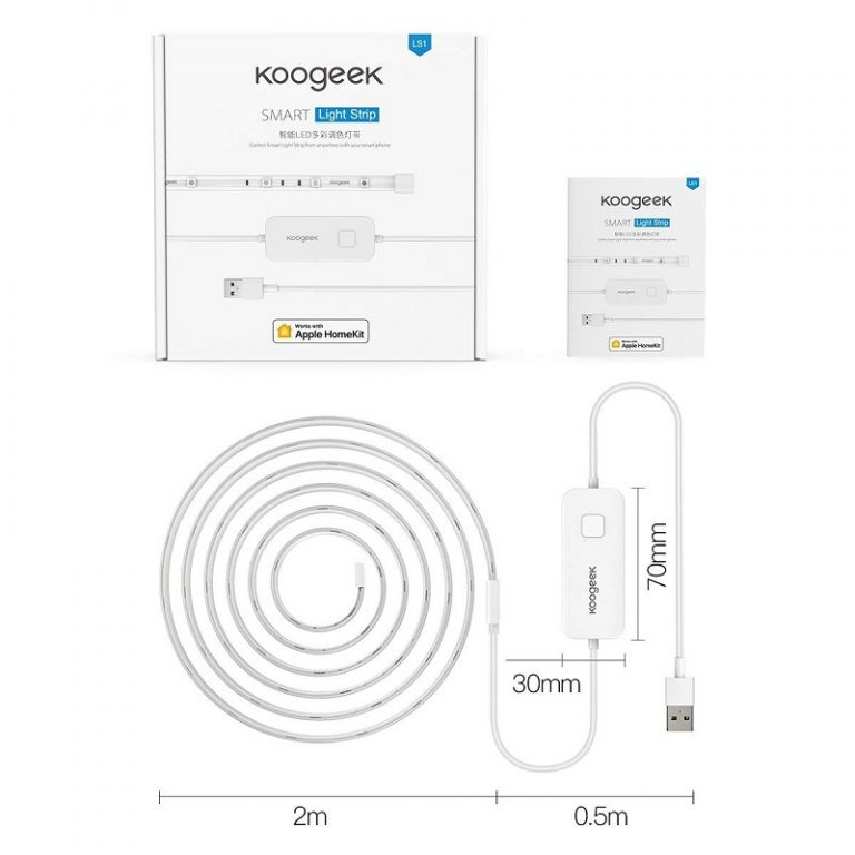 Koogeek 6.6ft 60 LED Strip: Design