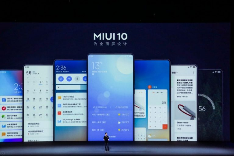 The first mobile with the stable version of MIUI 10