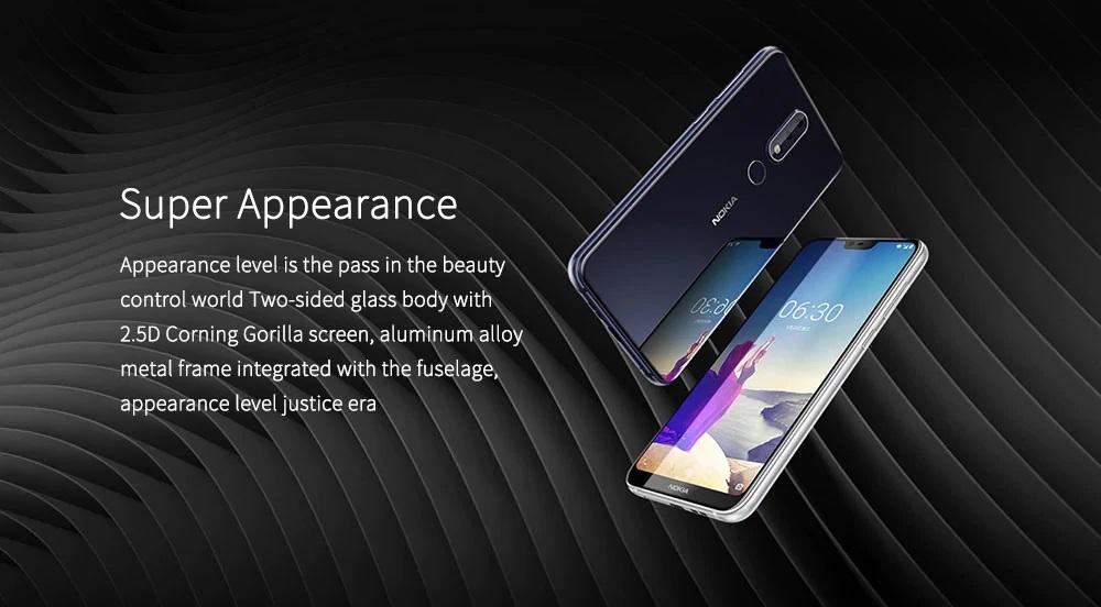 Nokia X6 Diseño
