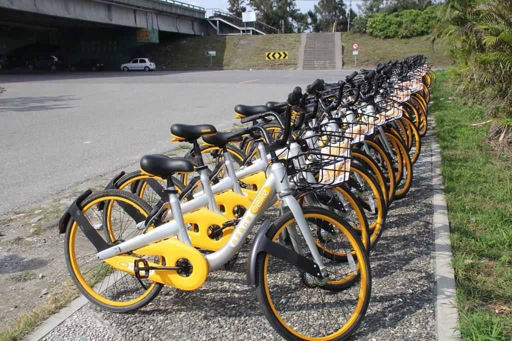 Muchas bicicletas de oBike