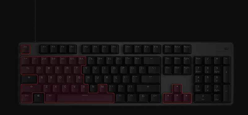 Xiaomi Gaming Keyboard 104-Key RGB Multi-respuesta