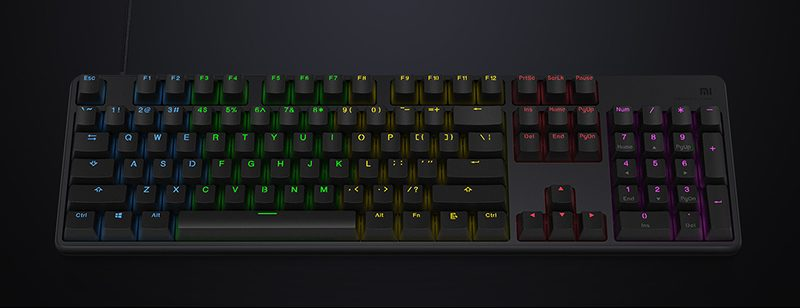 Xiaomi Gaming Keyboard 104-Key RGB introducción