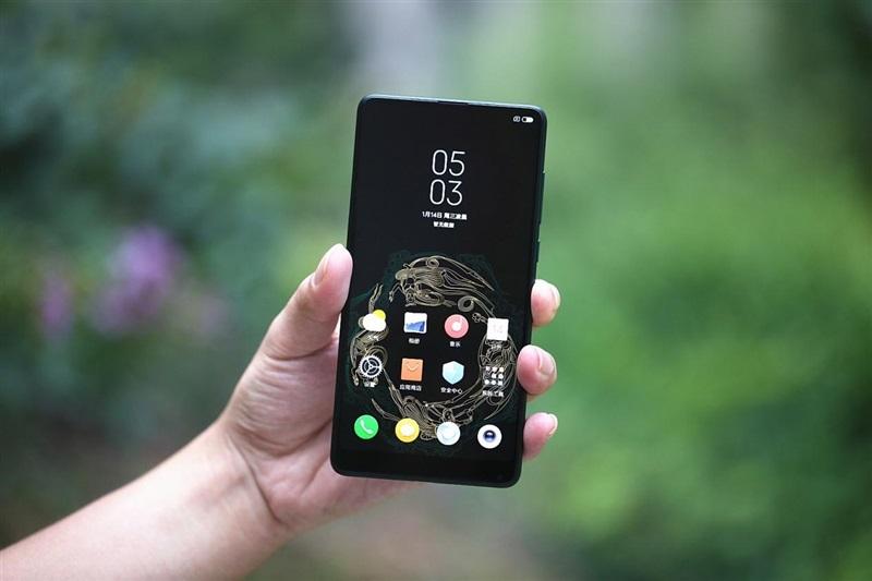 Xiaomi Mi MIX 2S Emerald Jade diseño frente