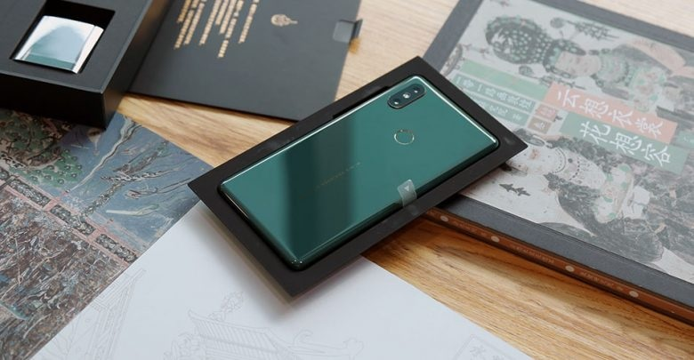 Xiaomi Mi MIX 2S Emerald Jade diseño