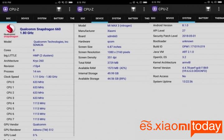 Xiaomi Mi Max 3 hardware