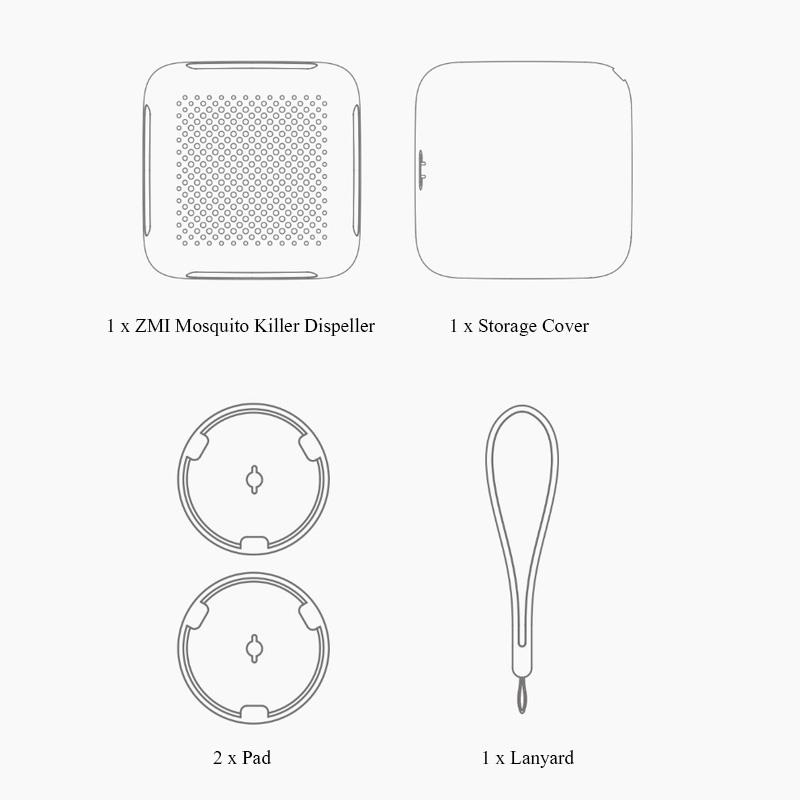 Xiaomi ZMI Mosquito Killer Dispeller Contenido del paquete