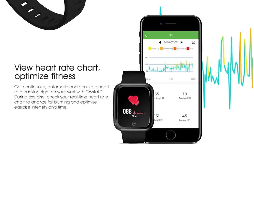 Zeblaze Crystal 2 frecuencia cardíaca
