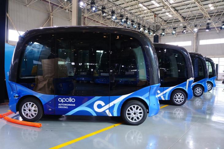 Por otro lado, autobuses de Baidu están listos
