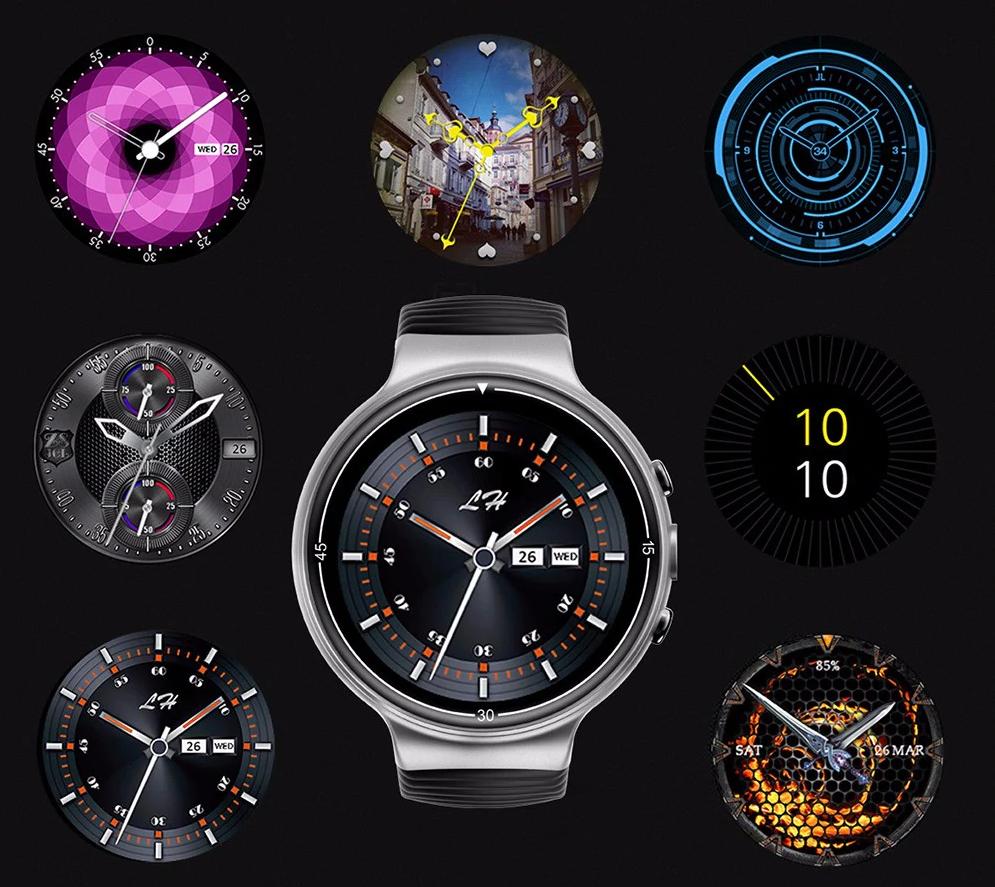 IQI I8 4G Smartwatch Phone: Diferentes estilos de diales