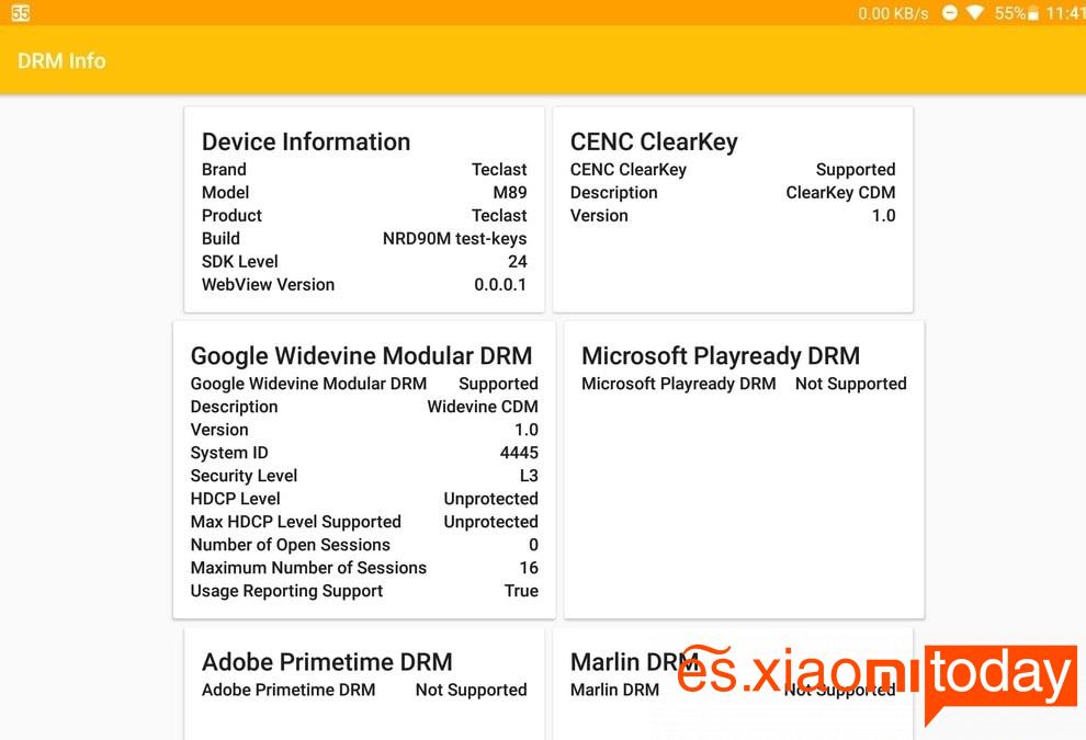 Teclast m89 Análisis: Hardware y Rendimiento. DRM