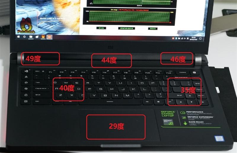 Xiaomi Gaming Laptop Análisis: prueba de calentamiento